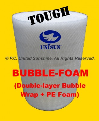 BUBBLE-FOAM HYBRID 1m x 100m Tough Plastic Packing
