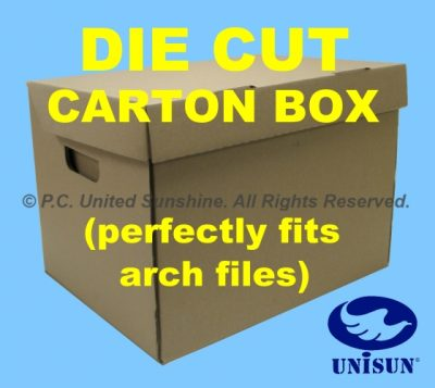 "CARTON BOX DIE-CUT (16½"" x 13″ x 11½"" Ht) x 5 pcs. Set"